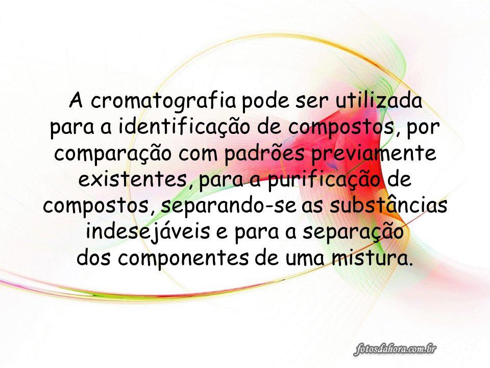 As diferentes formas de cromatografia podem ser classificadas considerando- se diversos critérios: 1.