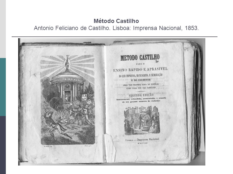 Método Castilho Antonio Feliciano de Castilho. Lisboa: Imprensa Nacional, 1853.