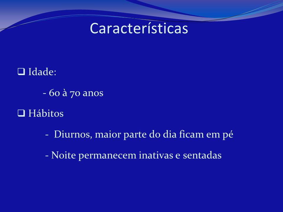 Características Altura - Machos de 2,0 a 3,0 metros - Fêmeas de 1,7 a 2,5 metros Peso - Varia de 120 à 200 kg para machos - 90 à 150 kg para fêmeas Meses de reprodução - Julho a dezembro