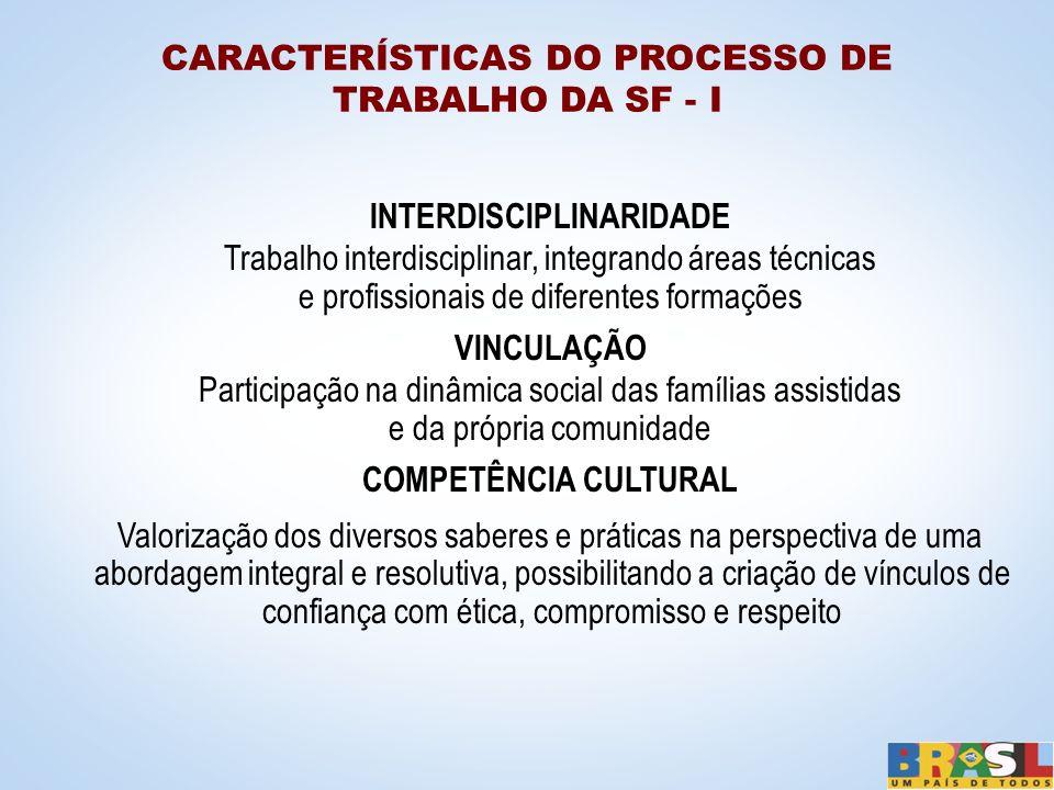 INTERDISCIPLINARIDADE Trabalho interdisciplinar, integrando áreas técnicas e profissionais de diferentes formações VINCULAÇÃO Participação na dinâmica