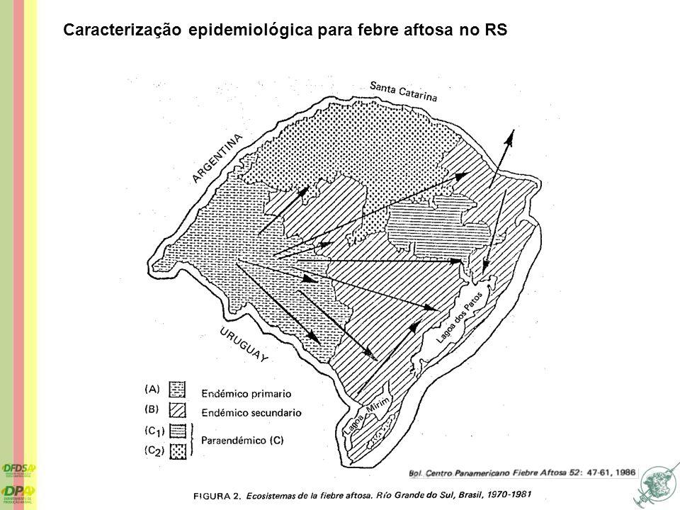 1998 2000 2001 2002 2003 2005 2007 Evolução da zona livre de febre aftosa, de 1998 a 2007