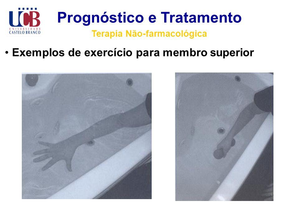 Prognóstico e Tratamento Terapia Não-farmacológica Exemplos de exercício para membro superior