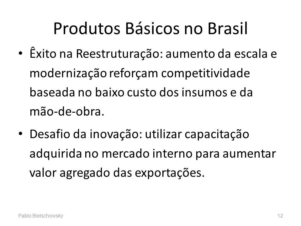 Produtos Básicos no Brasil Êxito na Reestruturação: aumento da escala e modernização reforçam competitividade baseada no baixo custo dos insumos e da