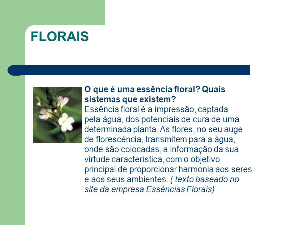 O que é uma essência floral? Quais sistemas que existem? Essência floral é a impressão, captada pela água, dos potenciais de cura de uma determinada p