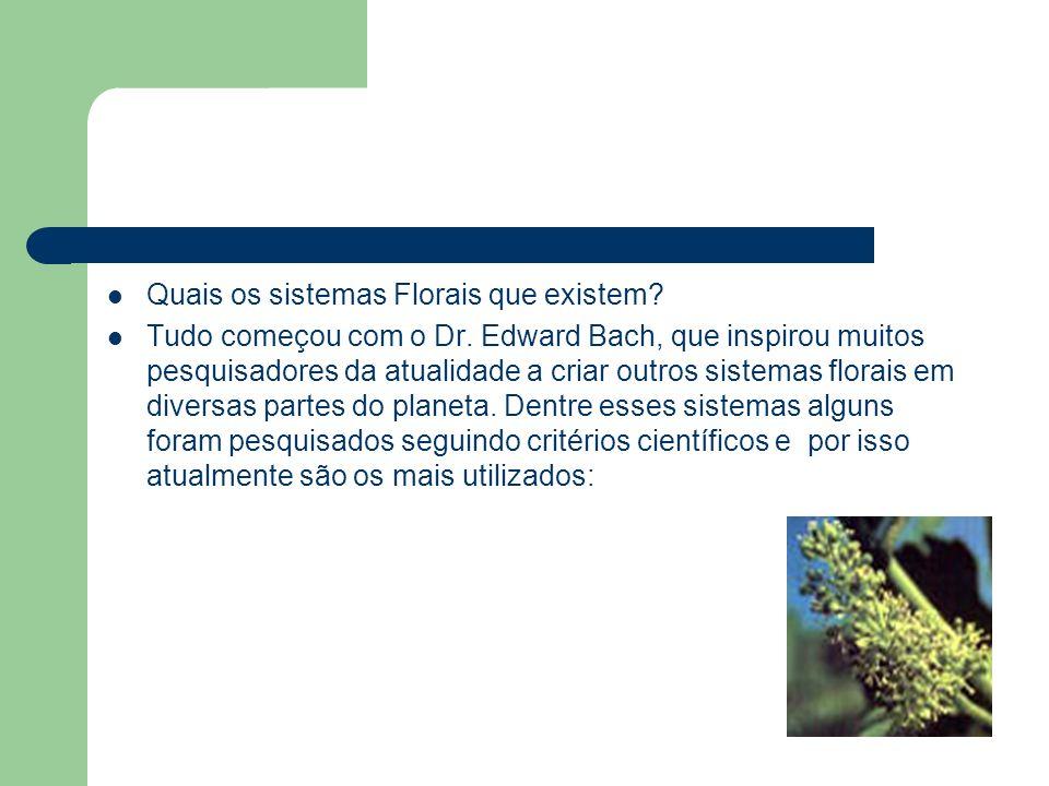Quais os sistemas Florais que existem? Tudo começou com o Dr. Edward Bach, que inspirou muitos pesquisadores da atualidade a criar outros sistemas flo