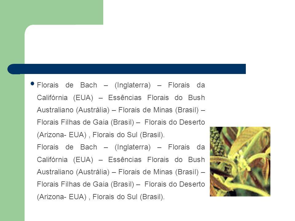 Florais de Bach – (Inglaterra) – Florais da Califórnia (EUA) – Essências Florais do Bush Australiano (Austrália) – Florais de Minas (Brasil) – Florais