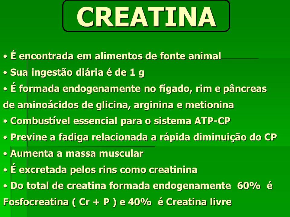 É encontrada em alimentos de fonte animal É encontrada em alimentos de fonte animal Sua ingestão diária é de 1 g Sua ingestão diária é de 1 g É formad