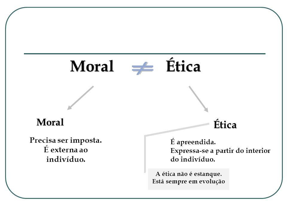 Moral é o conjunto das normas para o agir específico ou concreto.