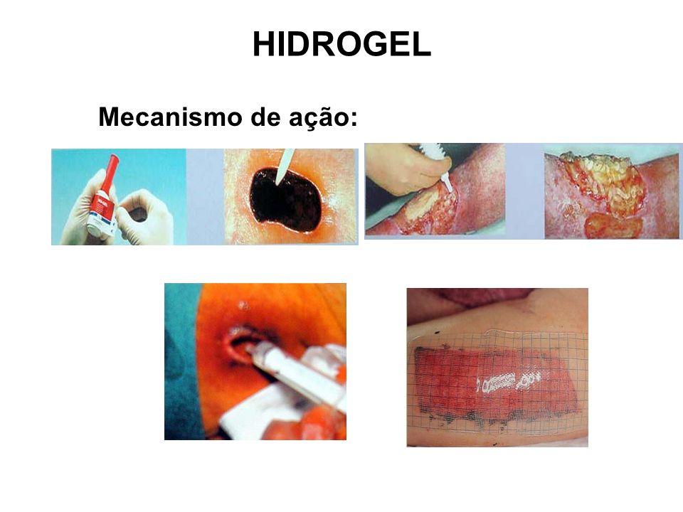 HIDROGEL Mecanismo de ação: