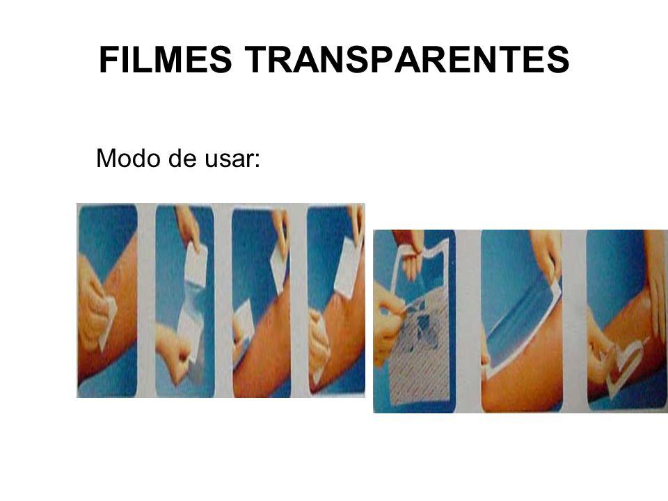 FILMES TRANSPARENTES Modo de usar: