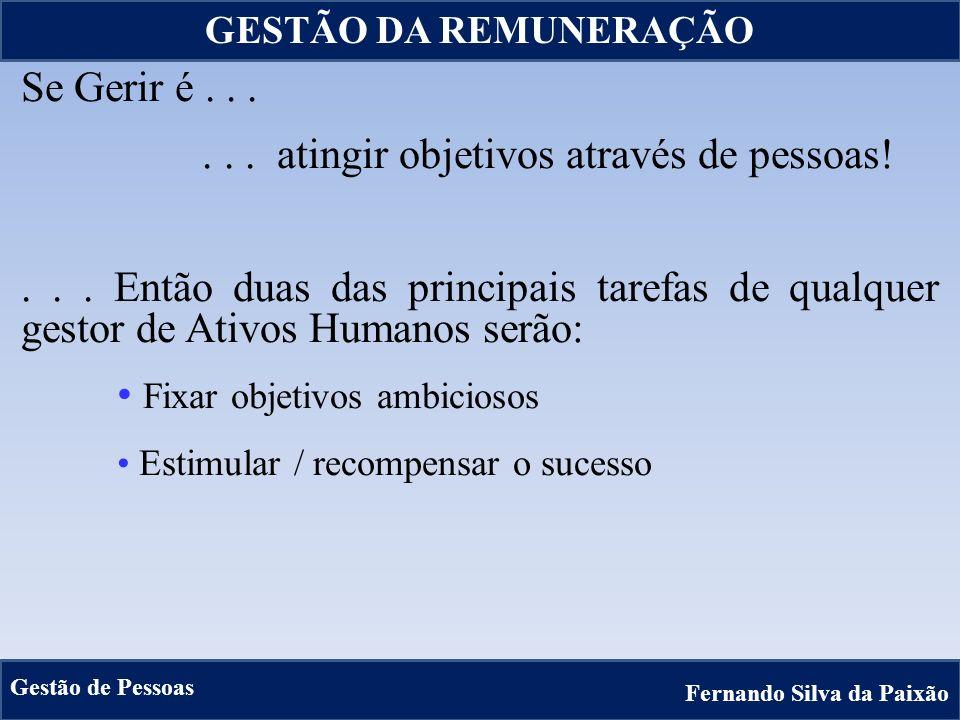 13 Se Gerir é...... atingir objetivos através de pessoas!... Então duas das principais tarefas de qualquer gestor de Ativos Humanos serão: Fixar objet