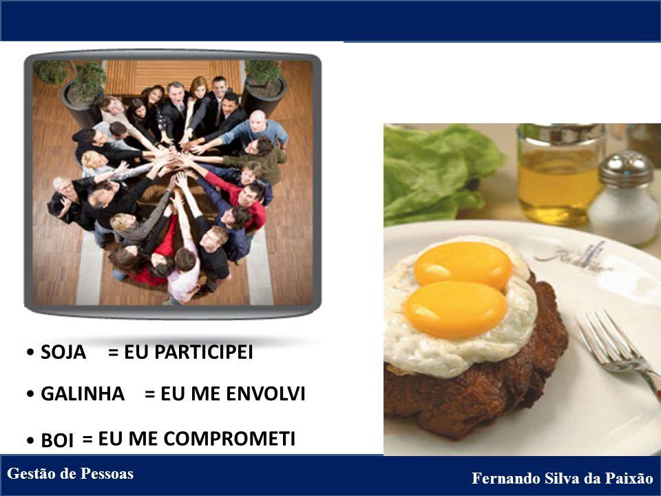 Fernando Silva da Paixão Gestão de Pessoas GALINHA BOI SOJA= EU PARTICIPEI = EU ME ENVOLVI = EU ME COMPROMETI