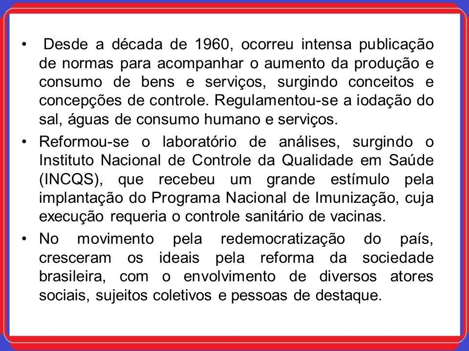 Desde a década de 1960, ocorreu intensa publicação de normas para acompanhar o aumento da produção e consumo de bens e serviços, surgindo conceitos e