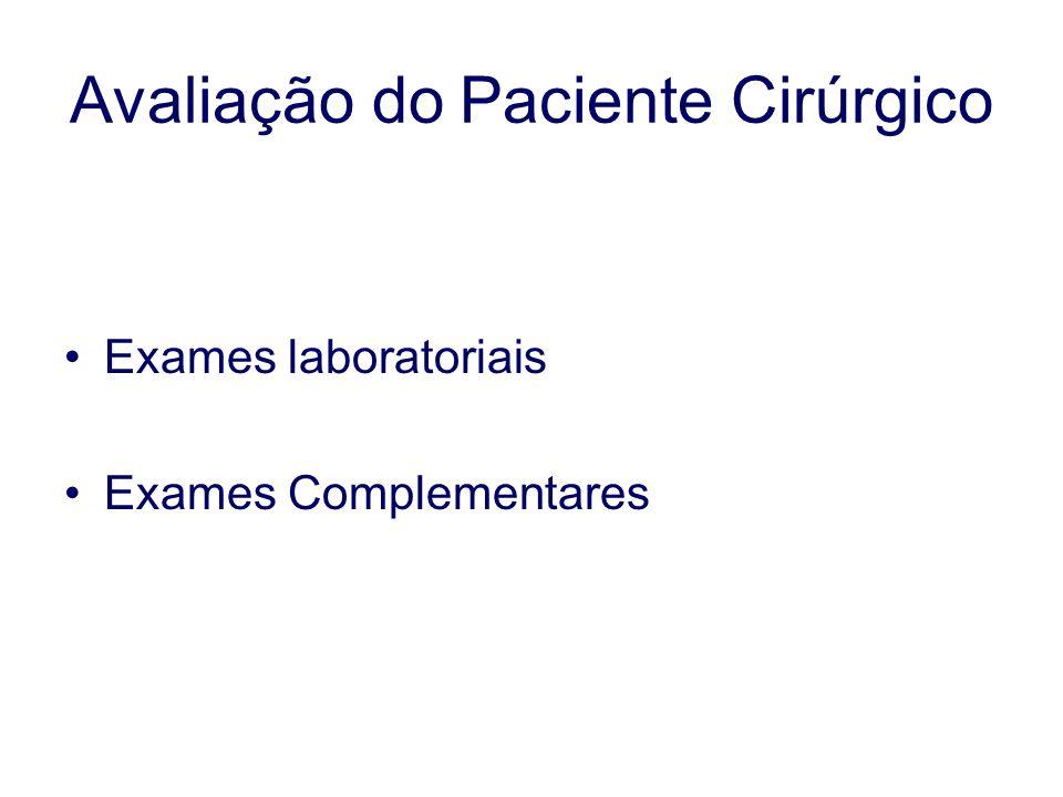 Exames laboratoriais Exames Complementares