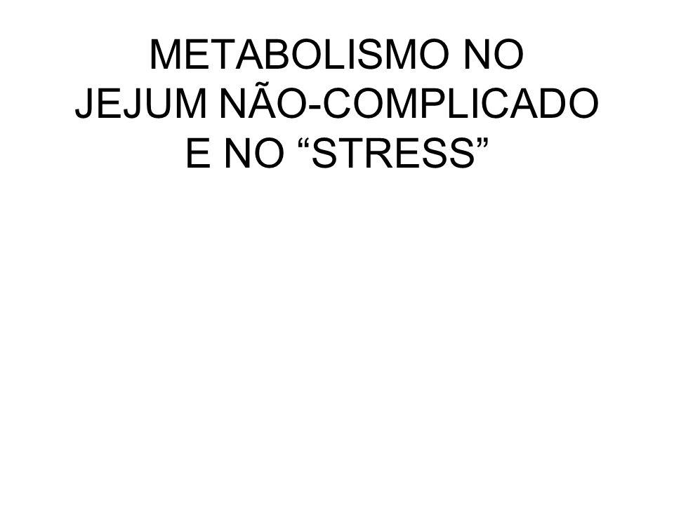 METABOLISMO NO JEJUM NÃO-COMPLICADO E NO STRESS
