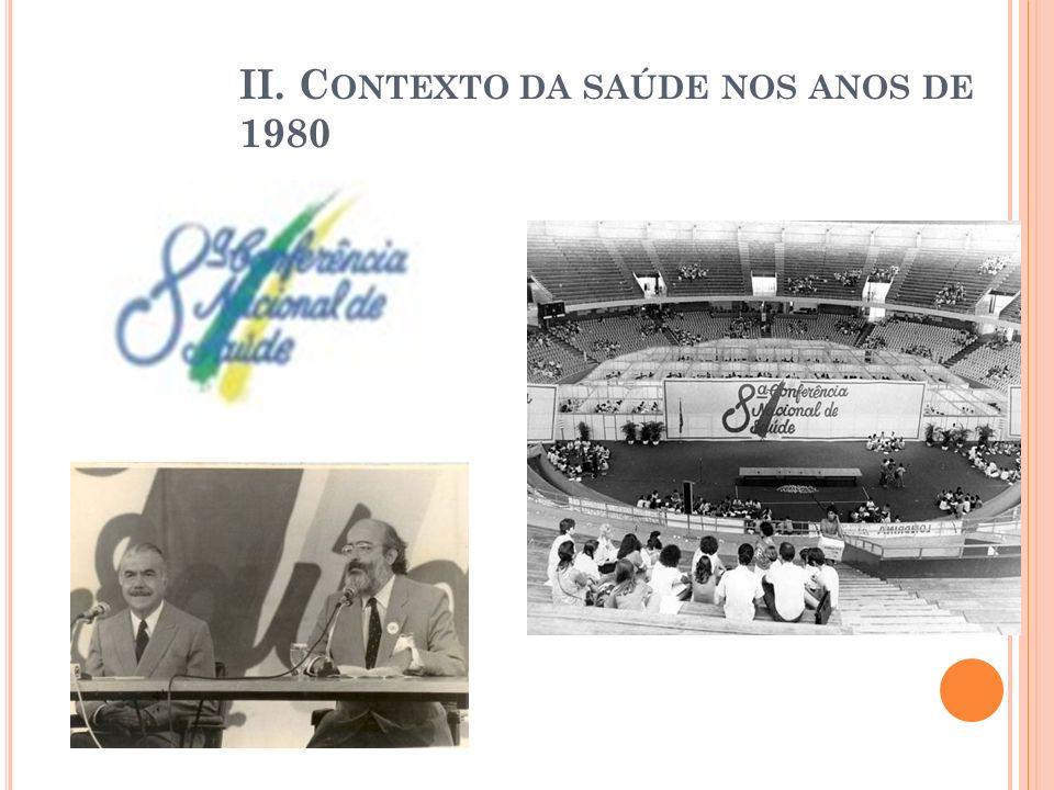 II. C ONTEXTO DA SAÚDE NOS ANOS DE 1980
