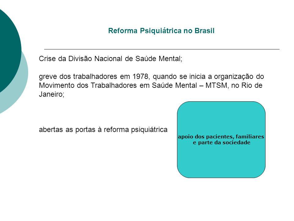 Crise da Divisão Nacional de Saúde Mental; greve dos trabalhadores em 1978, quando se inicia a organização do Movimento dos Trabalhadores em Saúde Men