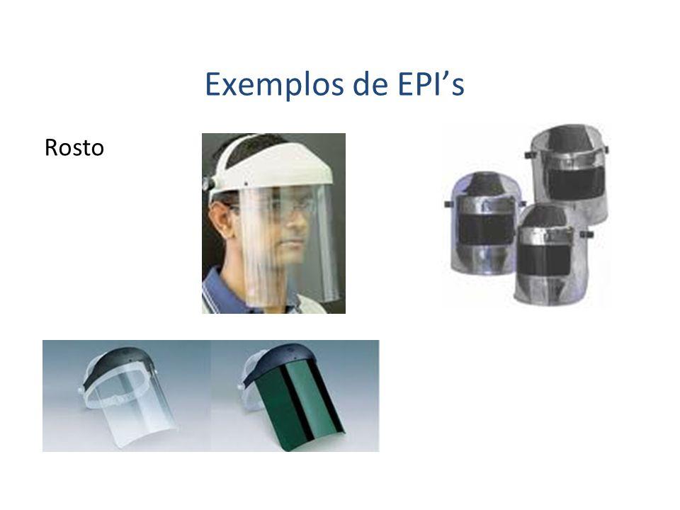 Exemplos de EPIs Rosto