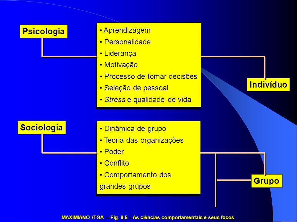 Aprendizagem Personalidade Liderança Motivação Processo de tomar decisões Seleção de pessoal Stress e qualidade de vida Aprendizagem Personalidade Lid