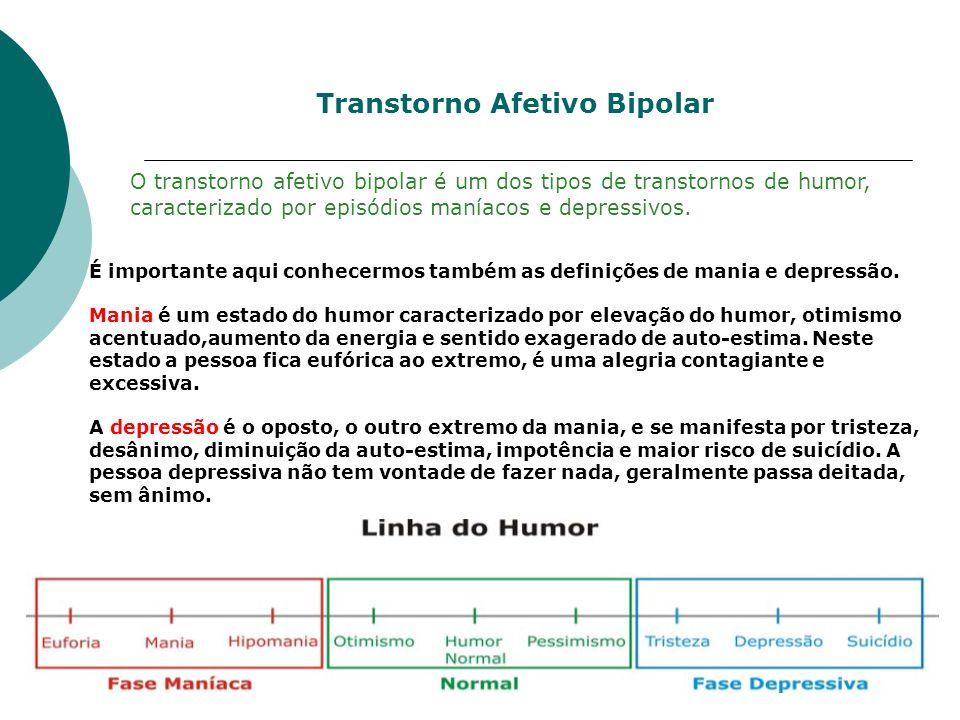 Transtorno Afetivo Bipolar O transtorno afetivo bipolar é um dos tipos de transtornos de humor, caracterizado por episódios maníacos e depressivos. É
