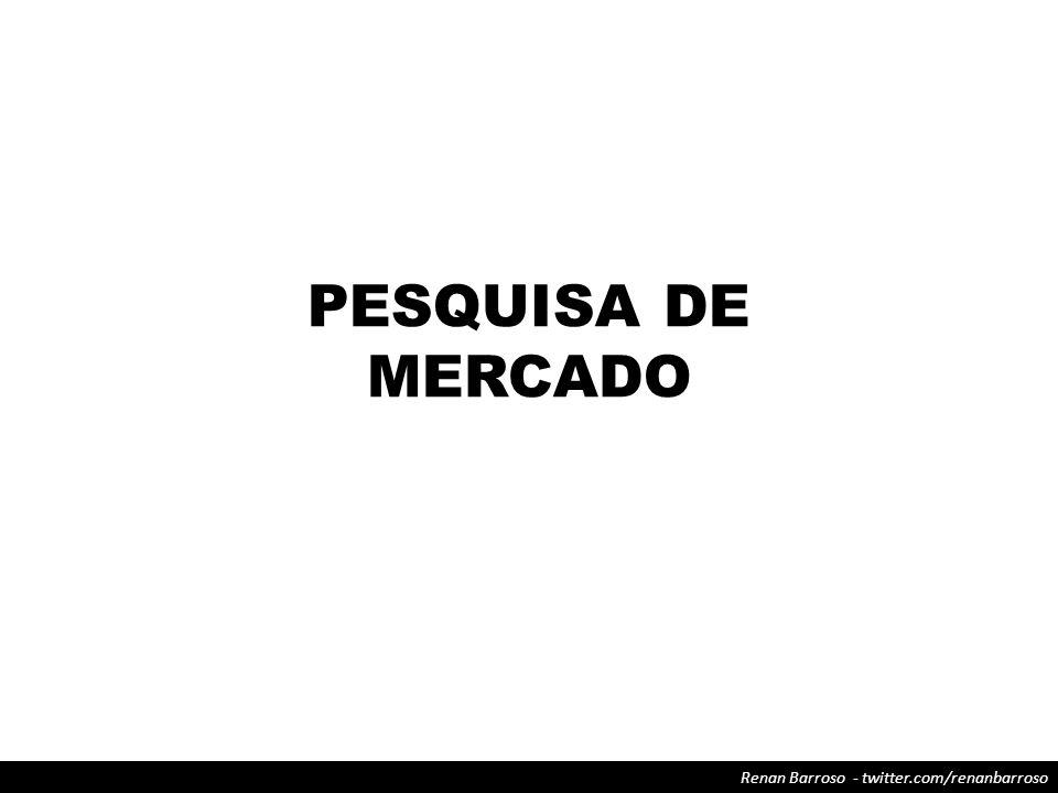 Renan Barroso - twitter.com/renanbarroso PESQUISA DE MERCADO