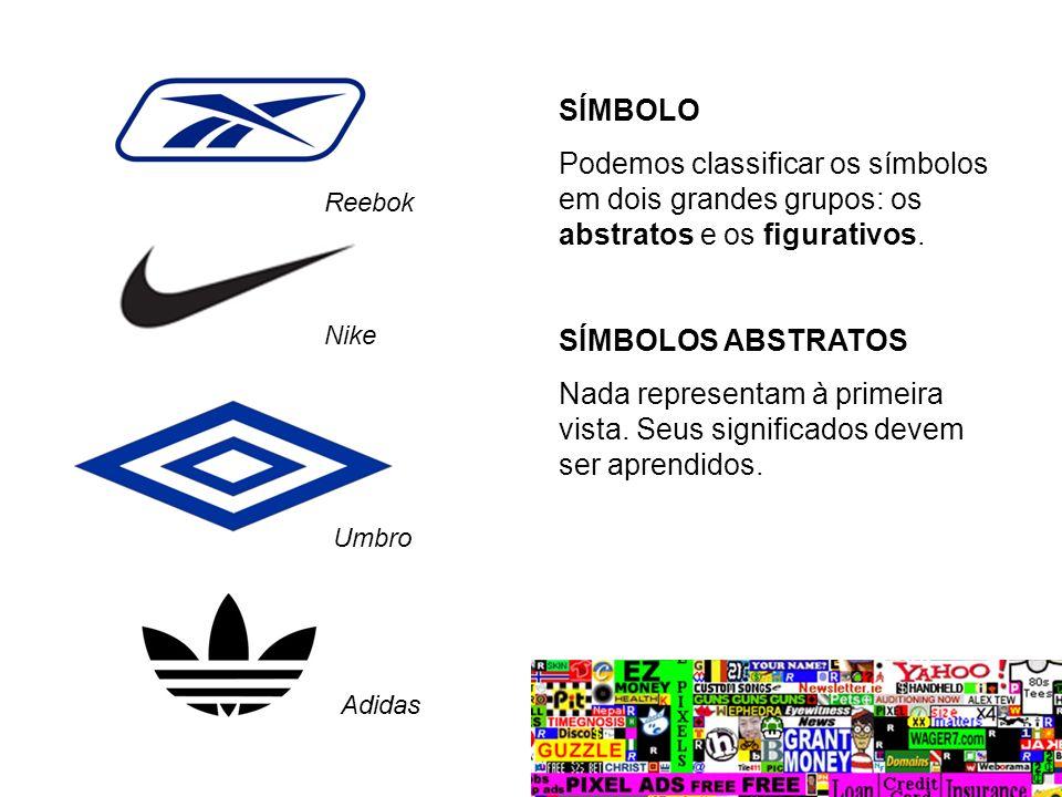SÍMBOLO Podemos classificar os símbolos em dois grandes grupos: os abstratos e os figurativos. SÍMBOLOS ABSTRATOS Nada representam à primeira vista. S