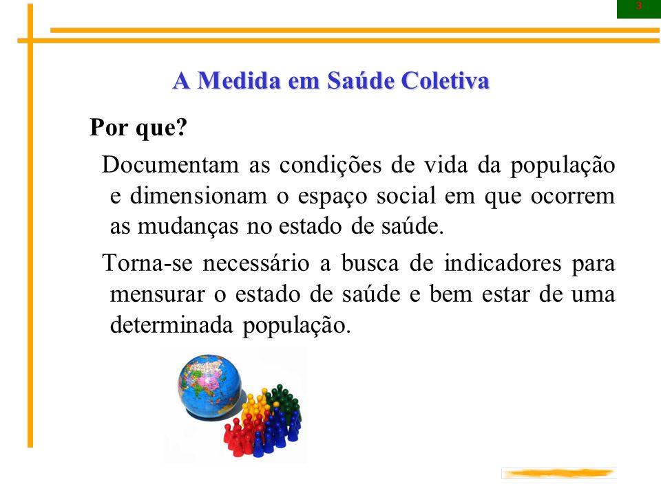 4 A Medida em Saúde Coletiva Quais os objetivos.Quais os objetivos.