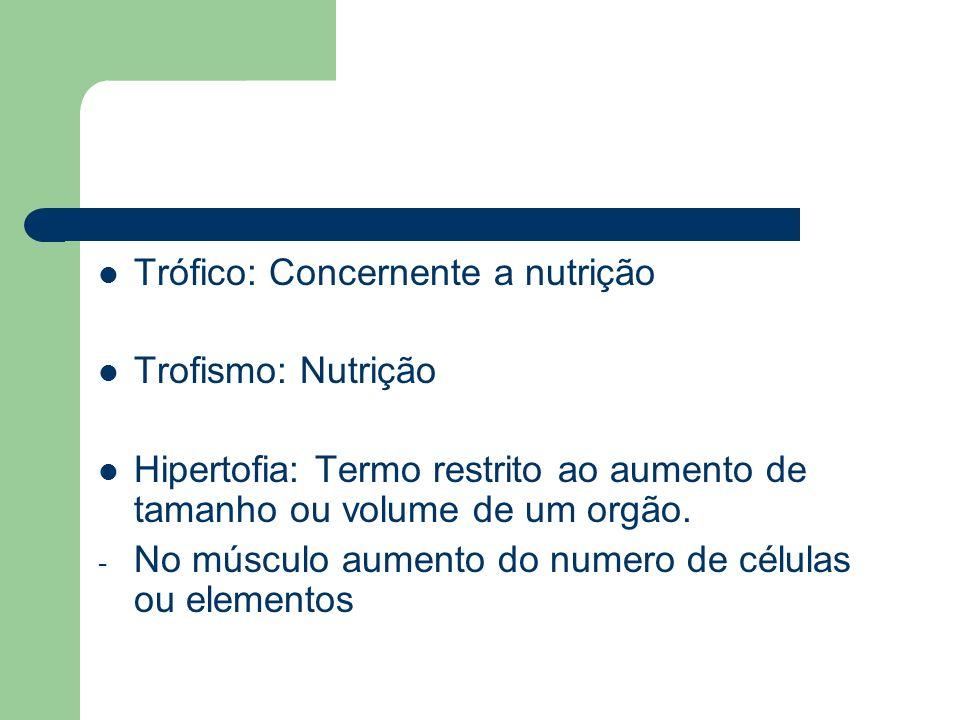 Hipotrofia: Degeneração progressiva e perda funcional de células e tecidos.