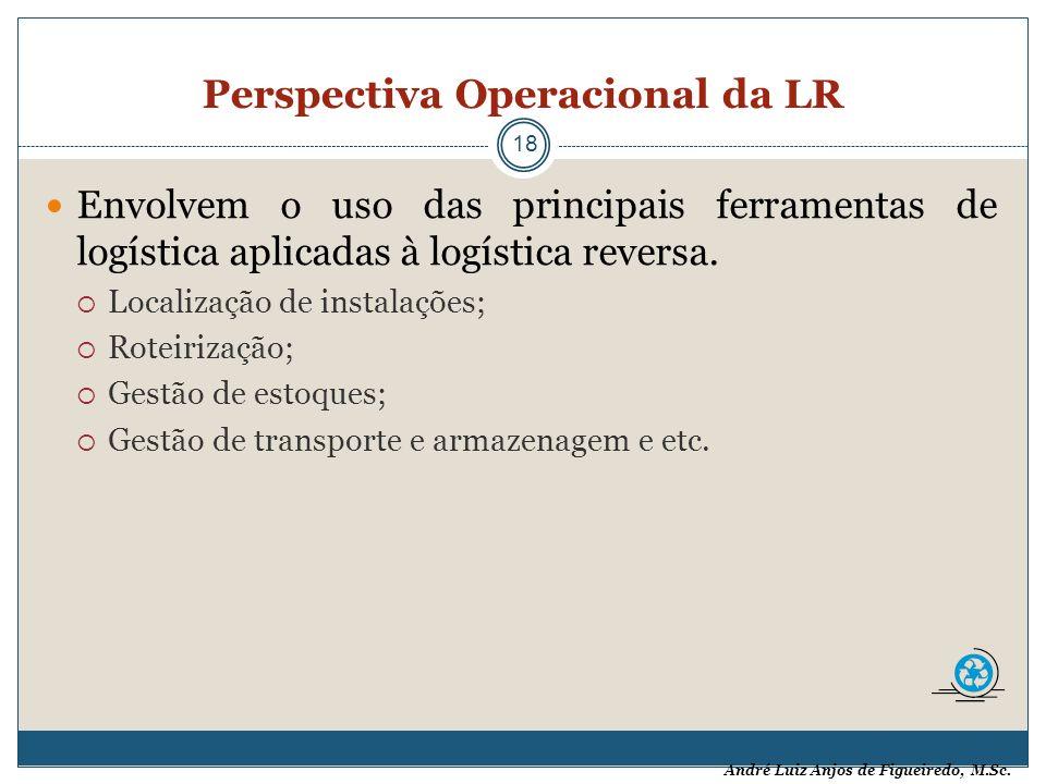 André Luiz Anjos de Figueiredo, M.Sc. Perspectiva Operacional da LR 18 Envolvem o uso das principais ferramentas de logística aplicadas à logística re