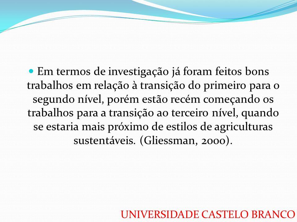 UNIVERSIDADE CASTELO BRANCO Em termos de investigação já foram feitos bons trabalhos em relação à transição do primeiro para o segundo nível, porém es