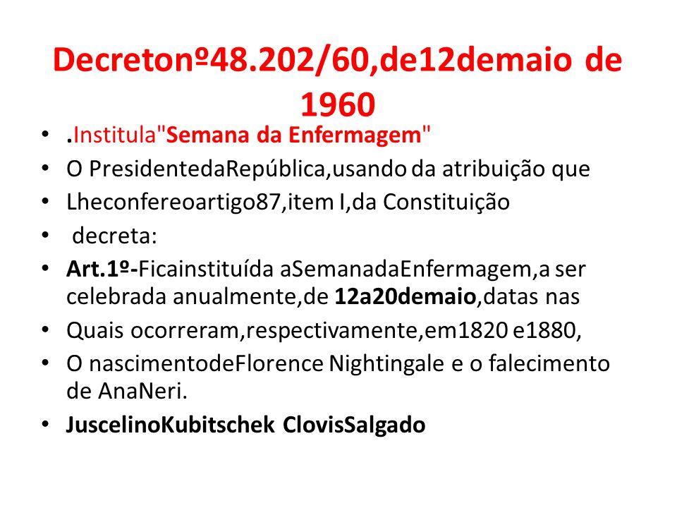 Decretonº48.202/60,de12demaio de 1960.Institula