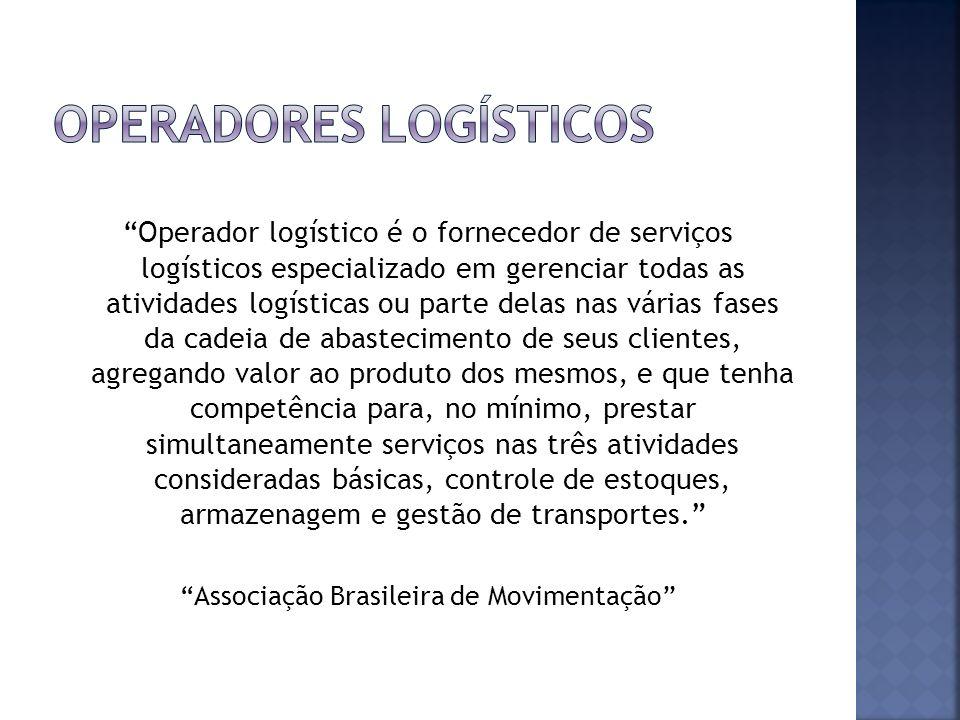 Operador logístico é o fornecedor de serviços logísticos especializado em gerenciar todas as atividades logísticas ou parte delas nas várias fases da
