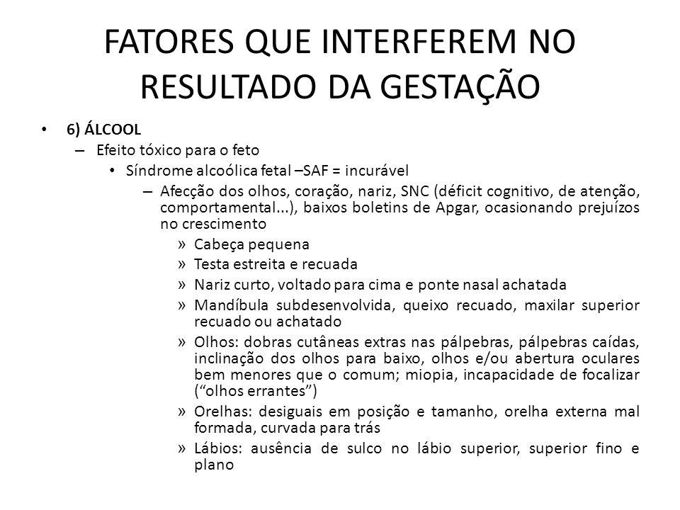 Síndrome Alcoólica Fetal Fonte: Sociedade de Pediatria de São Paulo e Associação Parceria contra Drogas.