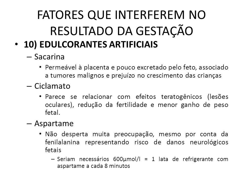 FATORES QUE INTERFEREM NO RESULTADO DA GESTAÇÃO Cont.