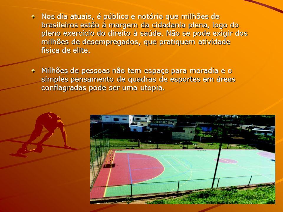 Nos dia atuais, é público e notório que milhões de brasileiros estão à margem da cidadania plena, logo do pleno exercício do direito à saúde. Não se p