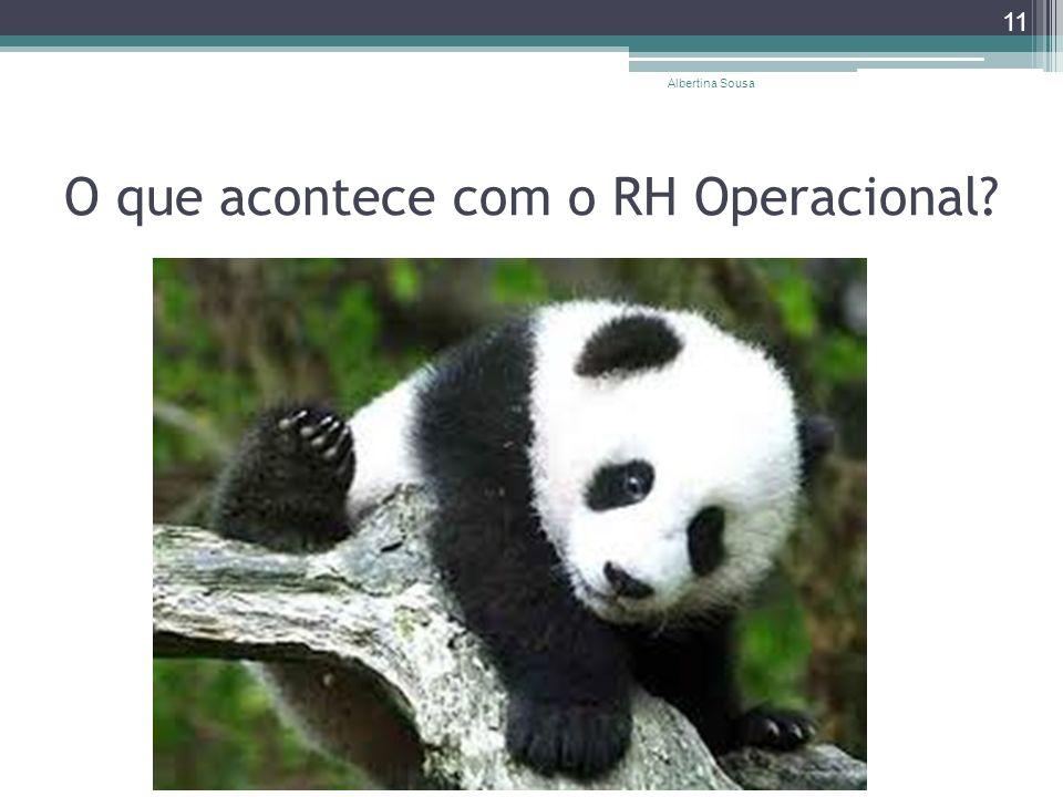 O que acontece com o RH Operacional? Albertina Sousa 11