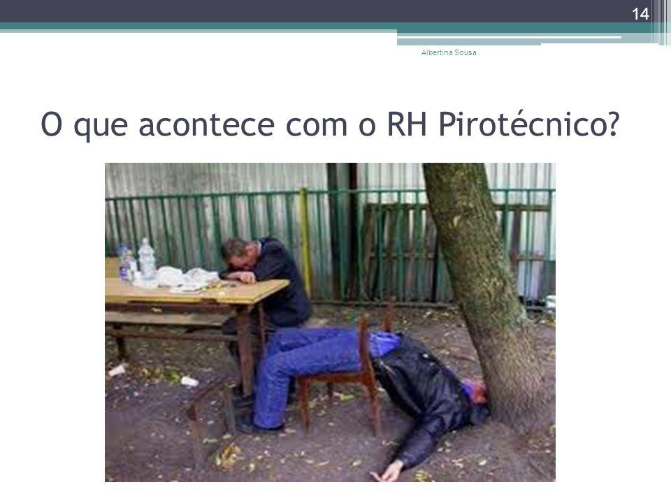 O que acontece com o RH Pirotécnico? Albertina Sousa 14