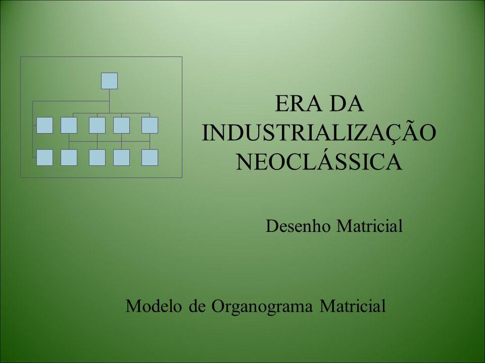 Desenho Matricial Modelo de Organograma Matricial
