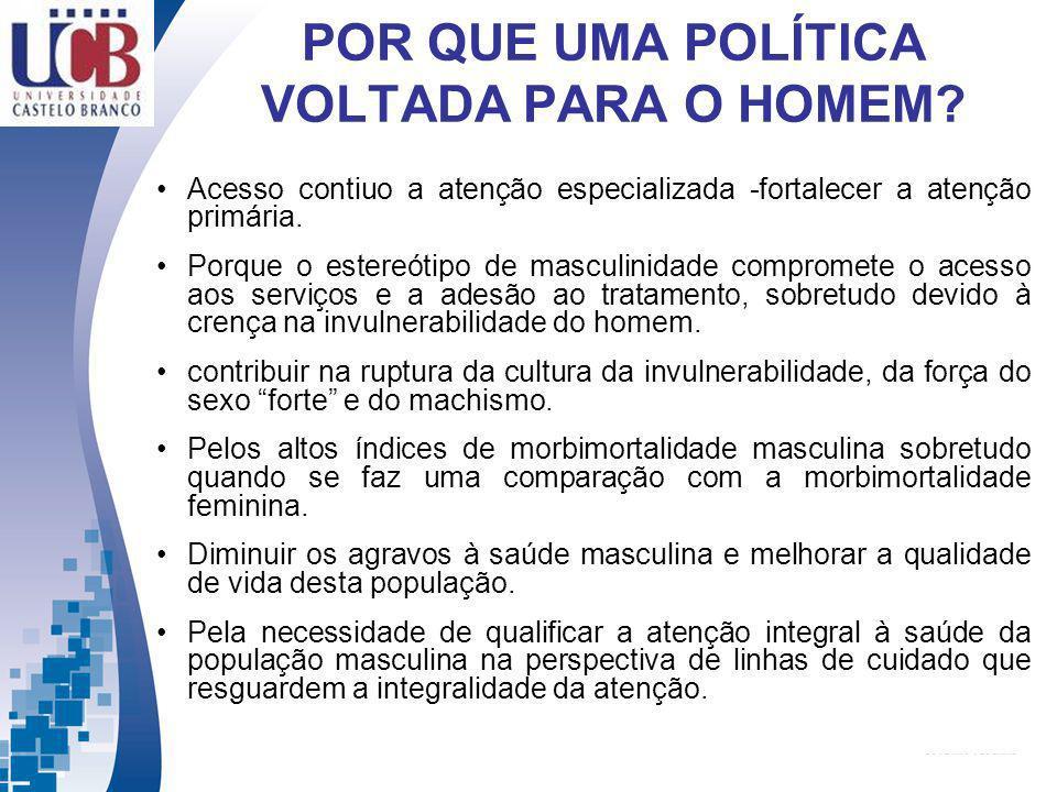 POR QUE UMA POLÍTICA VOLTADA PARA O HOMEM.