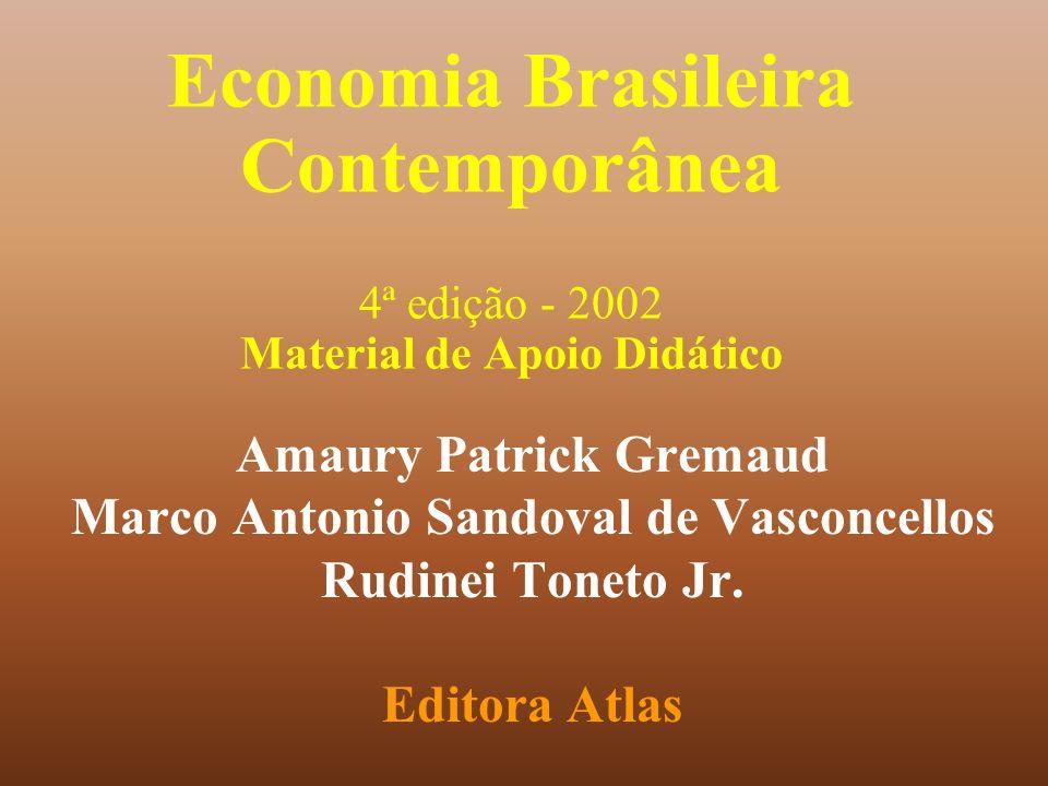 Economia Brasileira Contemporânea 4ª edição - 2002 Material de Apoio Didático Amaury Patrick Gremaud Marco Antonio Sandoval de Vasconcellos Rudinei To