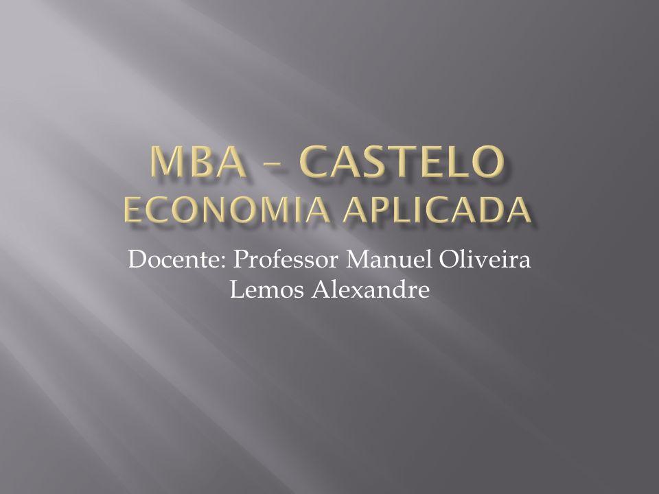 Docente: Professor Manuel Oliveira Lemos Alexandre