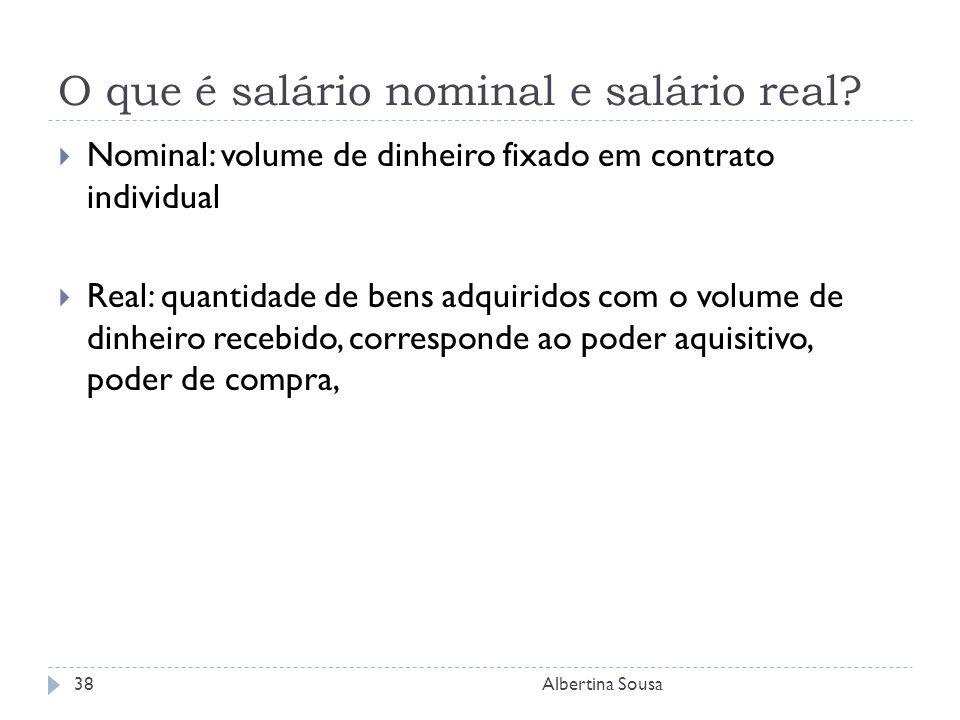 O que é salário nominal e salário real.