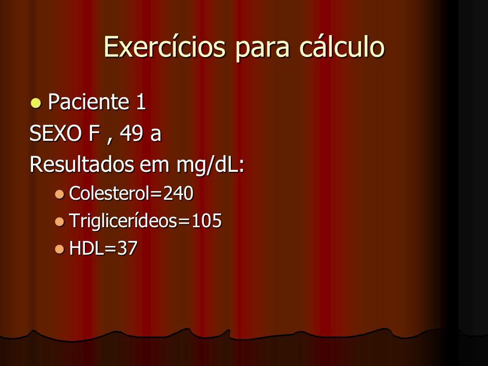 CÁLCULOS DE FRIDEWALD LT= COLX1,5 + TRIG + FOSFO LT= COLX1,5 + TRIG + FOSFO FOSFO= COL X 0,76 FOSFO= COL X 0,76 VLDL= TRIG/5 VLDL= TRIG/5 LDL= COL - (