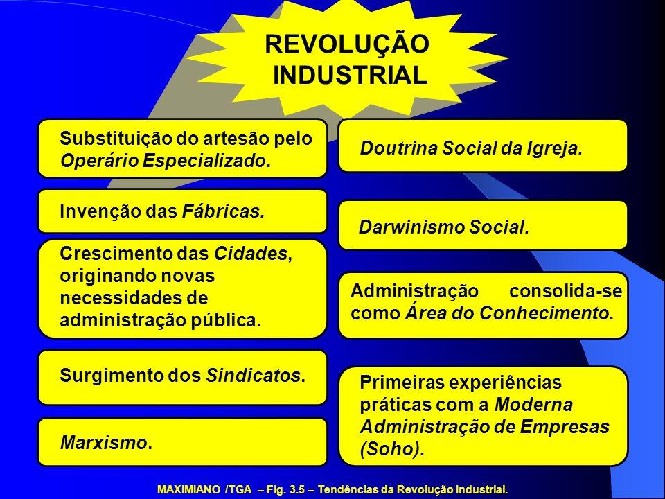 REVOLUÇÃO INDUSTRIAL Doutrina Social da Igreja. Substituição do artesão pelo Operário Especializado. Darwinismo Social. Invenção das Fábricas. Adminis