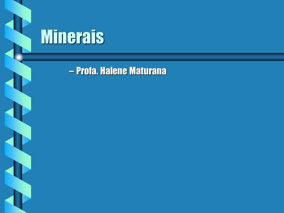 Minerais –Profa. Halene Maturana