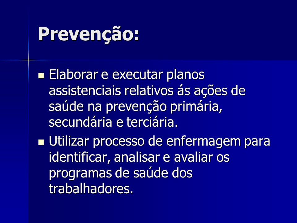 Participação ativa: Junto com a SESMT, na identificação, controle e avaliação dos fatores nocivos das doenças ocupacionais e na prevenção de acidentes.