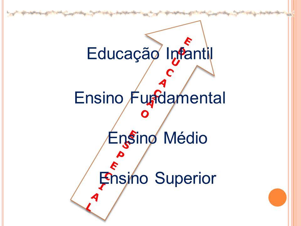 EDUCAÇÃOESPECIALEDUCAÇÃOESPECIAL EDUCAÇÃOESPECIALEDUCAÇÃOESPECIAL Educação Infantil Ensino Fundamental Ensino Médio Ensino Superior