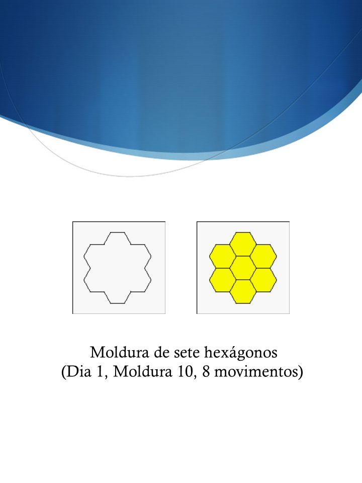 Moldura de sete hexágonos (Dia 1, Moldura 10, 8 movimentos)