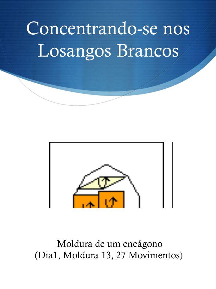 Concentrando-se nos Losangos Brancos Moldura de um eneágono (Dia1, Moldura 13, 27 Movimentos)