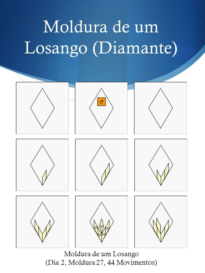 Moldura de um Losango (Diamante) Moldura de um Losango (Dia 2, Moldura 27, 44 Movimentos)